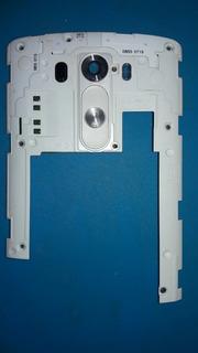 Carcaça Aro Traseiro Lg G3 D855 Botão Lente Câmera Carta Reg