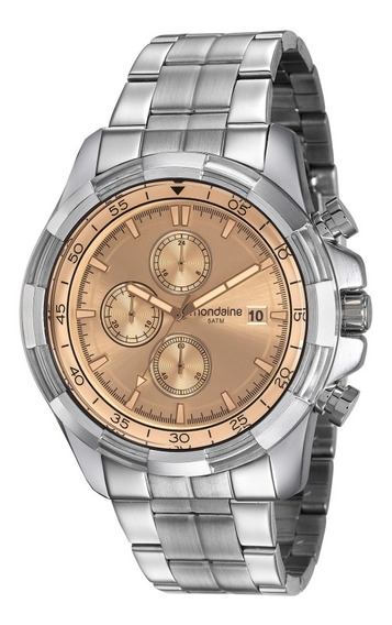 Relógio Masculino Mondaine 99263g0mvns1 Kit Cronógrafo C/ Nf