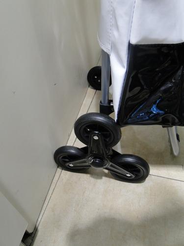 DULALA Carrito de la Compra Cartwheel 4pcs Negro pl/ástico Blanco de n/úcleo de Espuma Carrito de la Compra Rueda de Carro Ruedas