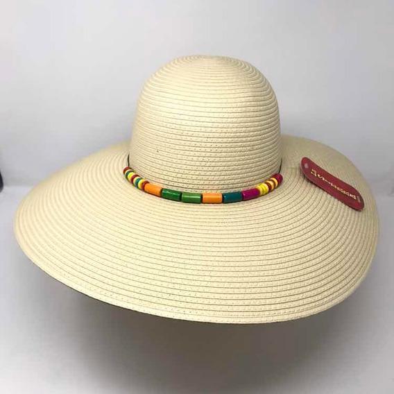 Sombrero Playa Dama, Sombrero Novia, Sombrero Ala Ancha
