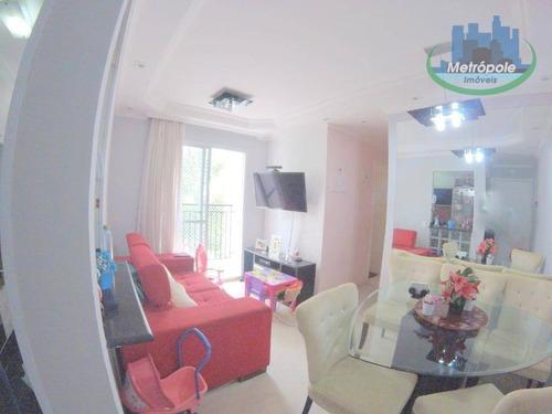 Apartamento Com 3 Dormitórios À Venda, 55 M² Por R$ 269.900 - Cocaia - Guarulhos/sp - Ap0894