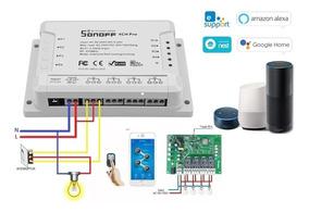 Sonoff 4ch Pro R2 Wifi Rf 433mhz Smart Switch Automação