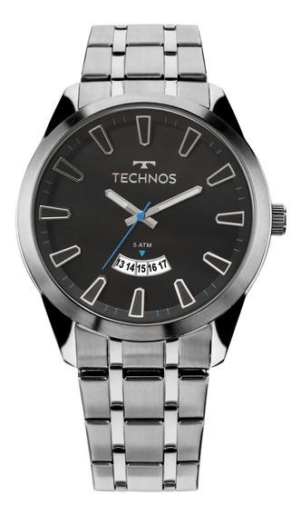 Relógio Technos Racer Masculino Prata 2115kzb/1p Novo Com Nf