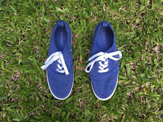 Zapatillas Divided Por H&m   Azul Divinas! 3