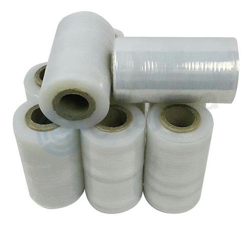 6 Rolos Film Stretch Para Fixação De Embalagem 100mm (10cm)