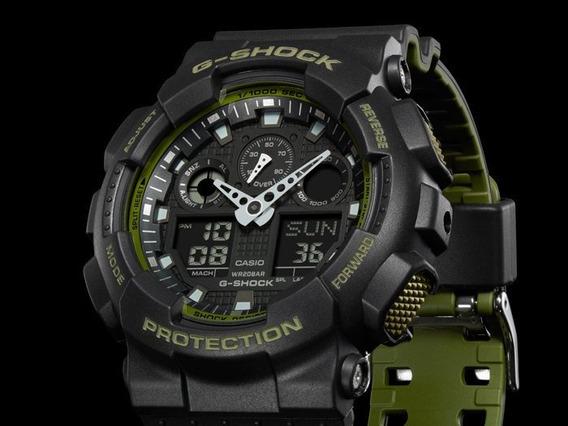Relógio G-shock Ga-100l-1a (preto)
