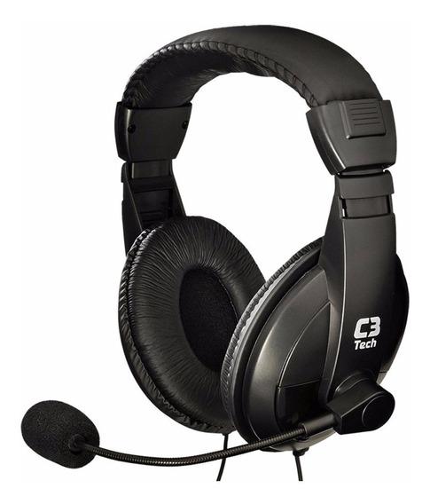Fone De Ouvido C/ Microfone Headset C3 Tech Voicer Confort