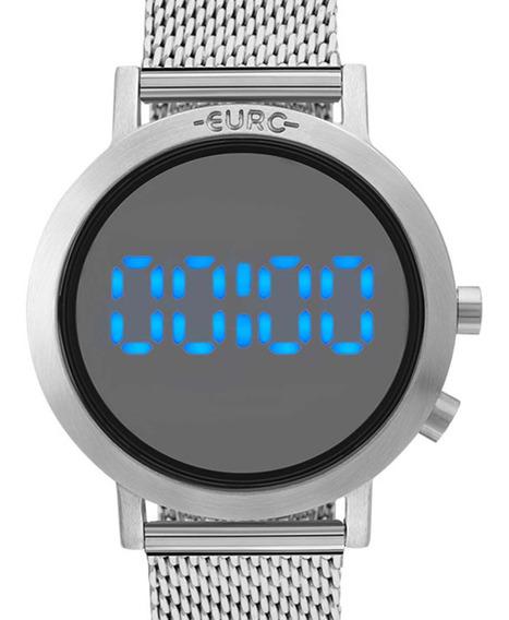 Relógio Euro Digital Led Feminino Eubj3407ab/3p Prateado Nf