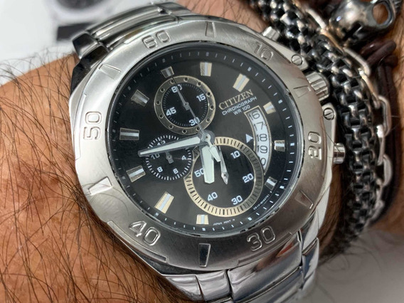 Citizen Chronograph Calibre 0510 Wr100m Quartz Movt Japan
