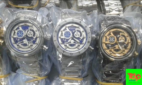 Vendo Relógio Bvlgari Lançamento Totalmente Funcional 12x..