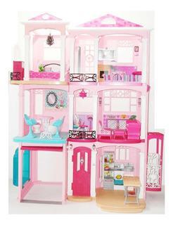 Casa De Los Sueños Barbie Con Auto Y Accesorios De Regalo