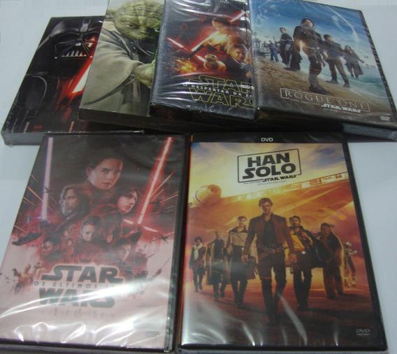Box Star Wars Saga Completa Rogue One Han Solo Orig 10 Dvd