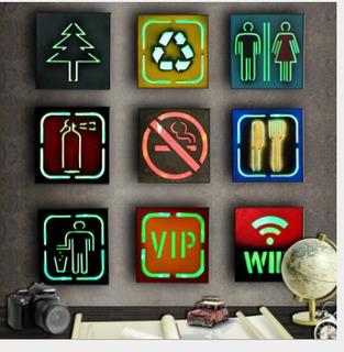 Placa Led De Mdf, Diseño Retro, Para Bar, Pub, Hogar, Decora