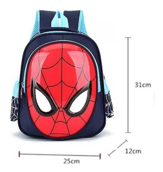 Mochila Infantil Spiderman 3d Impermeavel Homem Aranha Escol