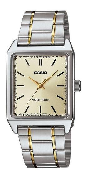 Relógio Casio Masculino Mtp-v007sg 9eu Misto Quadrado