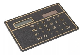 Calculadora Cartão Fina Solar Mini De Bolso Frete Fixo 15,00