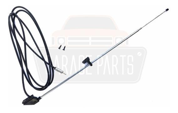Antena Coluna 3 Estágios Cromada Adaptação Mitsubishi L200