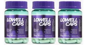 Lowell Caps Kit Vitaminas E Nutrição Capilar 100% Natural