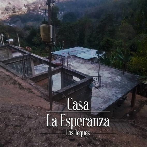 Casa Los Teques Obra En Gris Sector La Esperanza