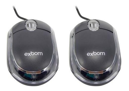 Kit Com 2 Mouses Óptico Laser Conexão Usb Preto Mauser