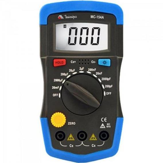 Capacímetro Digital Mc154a Azul Preto Minipa
