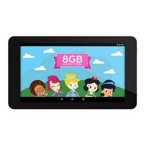 Tablet Infantil Princesinha Ht705 Android 7. 8gb Wi-fi +capa