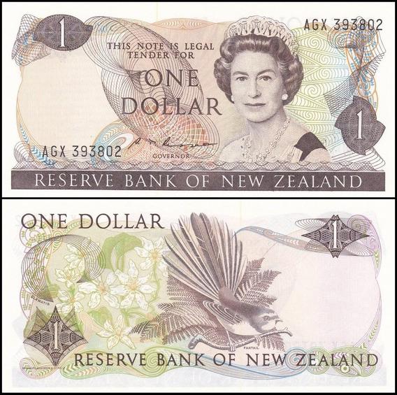 New Zealand Nova Zelândia P-169b Fe 1 Dollar 1981 1992 C O L