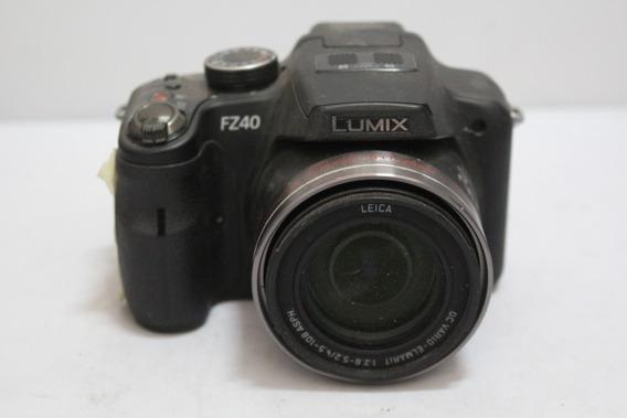 Câmera Digital Panasonic Leica Fz40 Sucata Retirada De Peças