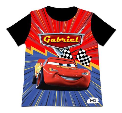 Camiseta Para Niños De Cars 3 Mcqueen Mc Queen Personalizada