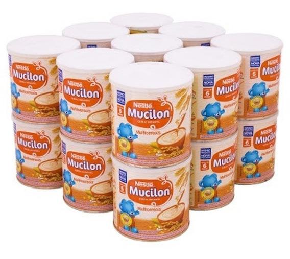 Kit 10 Latas Mucilon Multicereais Nestle 400 Gramas Cereal