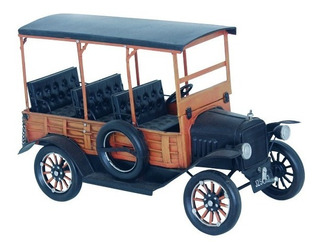 Miniatura De Ônibus Modelo 1900 Em Metaloldway 34x13x20cm
