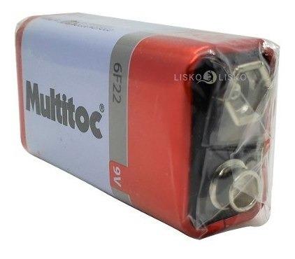 Kit C/ 50 Pilhas Baterias 9v Multitoc 6f22