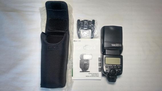 Flash Canon 580 Ex Ii Speedlite Muito Novo