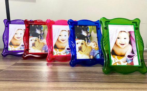 Kit 100 Porta Retratos Plásticos Para Foto 10x15 | Revenda