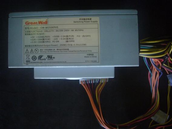 Fuente De Poder Great Wall 110/220 Volt - 250 Watts