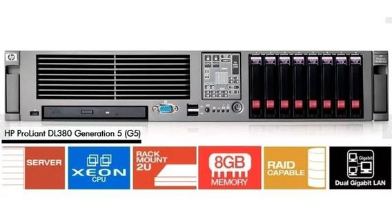 Servidor Proliant Dl380 G5 2 Xeon 8 Giga 2x Gaveta / Sem Hd