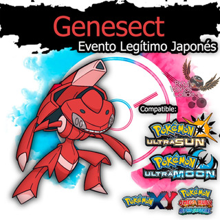 Genesect Shiny Evento Especial Ultra Sol, Luna, X, Y, Or, As