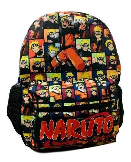 Mochila Escolar Costa Naruto Tamanho G + Estojo + Toalha