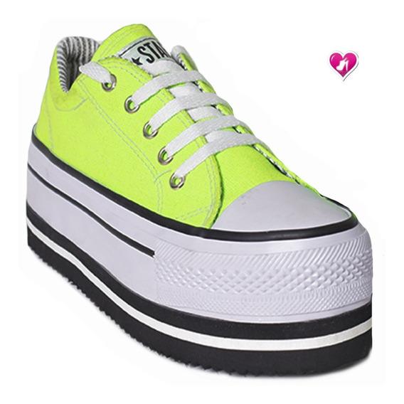Zapatillas Con Plataforma Moda Modelo Star De Shoes Bayres