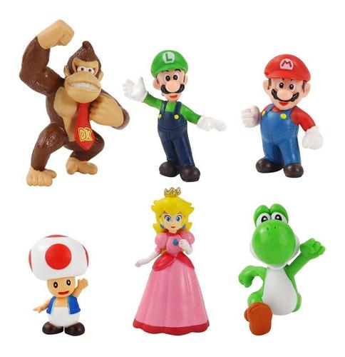 Super Mario Bros Donkey Kong Colección X 6 Figuras En Bolsa