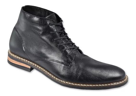Zapatos De Cuero Stone Hamilton Negro Wales Deportes Palermo