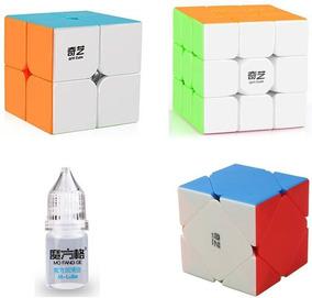 Cubo Mágico 2x2 3x3 Skewb Lubrificante Qiyi Qidi Warrior Top