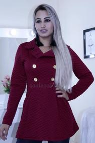 Casaco Jaqueta Sobretudo Feminino Inverno 2019 Chic Elegante