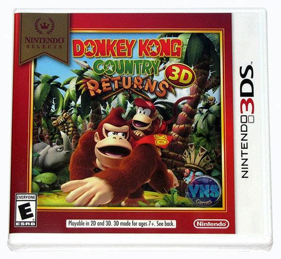 Donkey Kong Country Returns 3d - 3ds - Novo Lacrado