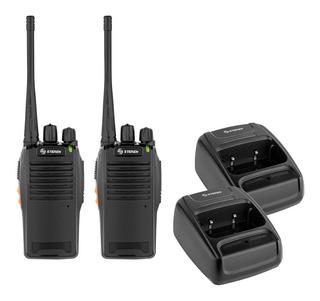 Kit Set De 2 Radios Intercomunicadores Uhf 5w Recargables
