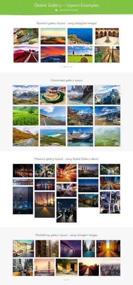 Galeria Global - Galeria Responsiva Do Wordpress