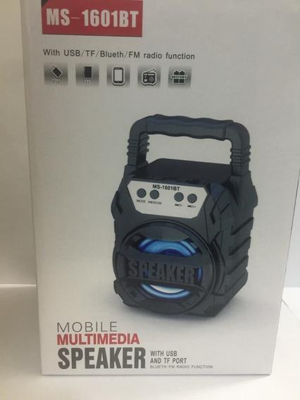 Corneta Portatl Inalambrica Con Bluetooth Ms-1601