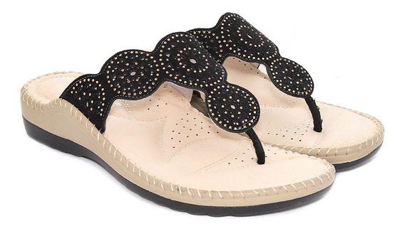 Sandalia Lady Stork Mujer Eco Cuero Acolchada Moda Tiras