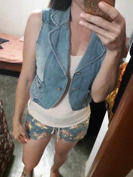 Chaqueta De Jeans De Dama Talla S/m