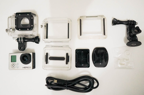 Câmera Gopro Hero3 Black Com Acessórios